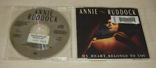 ANNIE RUDDOCK My Heart Belongs To You CD Single 1988 3trk EX-LIBRARY