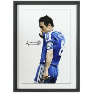 Chelsea Frank Lampard Signed Autograph Photo Frame Display Fan Gift Memorabilia