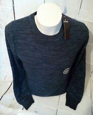 Ragman Rundhals Pulli Pullover Gr. L 52 100% Baumwolle Blau schwarz Melange