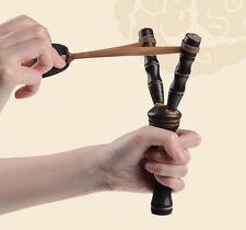 Bamboo Style Wooden Sling Shot Toys Slingshot Bow Catapult Hunter KIDs BJC