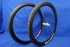 Psimet Carbon 50/60mm Tubular Road Bike Wheelset - QR - 10 Speed - Rim Brake
