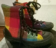 CONVERSE WOOLRICH WOOL MULTICOLOUR RAINBOW CHECKERED SNEAKER US WOMEN'S 6