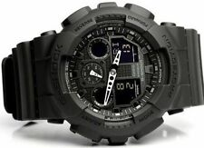 Casio watch Mens G - SHOCK Black GA-100-1A1 quartz watch waterproo