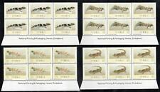 ZIMBABWE MNH 1989 Geckos Imprint Block of 6