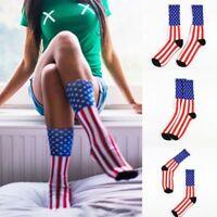 Fashion Old Dress Cotton Mens American Unisex Casual Socks USA Flag Glory