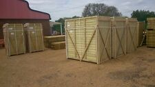 CLOSEBOARD FEATHEREDGE FENCE PANELS 3' X 6'  BRACED AND FRAMED SUPERB PANELS
