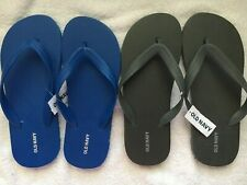 2 pairs OLD NAVY Men's FLIP FLOPS Size 6/7~ BRIGHT BLUE & CHARCOAL GREY NWT