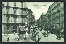 Napoli : Via Roma - cartolina non viaggiata, indicativamente anni '20