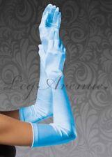 Leg Avenue Extra Long Light Blue Satin Gloves