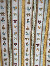 Holly Hobbie  100% Cotton Quilting Treasures Fabric  Stripe  Multi  1Yd 18 X 43