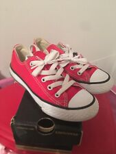Converse Red Junior  11 Pumps Trainers Genuine With Box