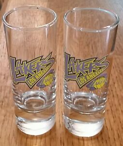 Los Angeles Lakers Shot Glasses 2oz NBA, Logo On One Side, Thick Glass On Bottom