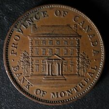 PC-2B One Penny 1842 token Province of du Canada Montreal Quebec Breton 526