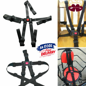 5 Point Children Car Belt Pram Baby High Chair Safe Strap Buggy Stroller Harness
