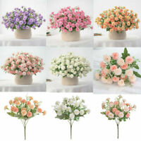 20 Flowers Hydrangea Fake Silk Flower Home Party Garden Flowers Lilac Small X4G9