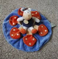 Doudou Et Compagnie Cow toadstools Soft Plush Toy Baby Comforter Soother blanket