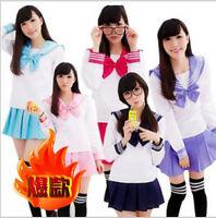Japanese School Girl's Dress Outfit Sailor Uniform Cosplay Costume Fancy Dress