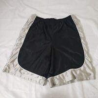 Foot Locker black & silver basketball shorts (L)