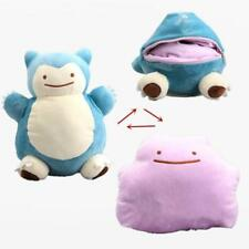 NEW 12'' Pokemon Snorlax Ditto Metamon Inside-Out Cushion Plush Bag Purse Figure