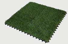 4 pcs Artificial Grass Tiles 30 x 30cm Green Synthetic grass indoor or outdoor