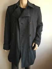 ST GEORGE BY DUFFER MENS M  40-42 TOP DESIGNER DB TWEED WOOL COAT OVERCOAT