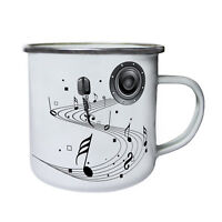 Music Dance Sing Art Retro,Tin, Enamel 10oz Mug c612e
