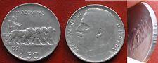 MONETA COIN REGNO ITALIA VITTORIO EMANUELE III° CENTESIMI 50 RIGATO 1921 LEONI 4