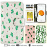 iPhone 8 7 Plus 6s 6 X Case Cactus Print Wallet Leather Cover For Apple SE 5s 4