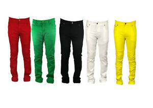Mens Georgio Peviani Slim Fit Straight Stretchy Denim Jeans Pants All Waist