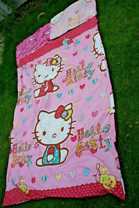 HELLO KITTY BEDDING SHEETS SINGLE BED DUVET COVER PILLOWCASE CHILDS GIRLS BOYS
