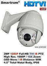 Mini 2Mp Hd-Tvi Outdoor Ir Night Vision Ptz Speed Dome/1080P/10X Optical Zoom