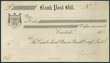 More details for cumberland union banking company limited, proof bank post bill, carlisle 187-