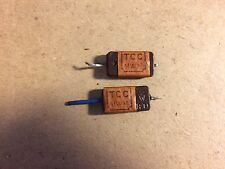 2 Vintage TCC Mica Capacitors 200 pf .0002 uf MWN Guitar Amp Tone Caps - TESTED