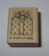Gift Wrapped Present Rubber Stamp Bow Stampin' Up! Polka Dots Retired Wood Mtd