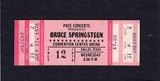 1978 Bruce Springsteen unused concert ticket Dallas TX Darkness Edge Of Town