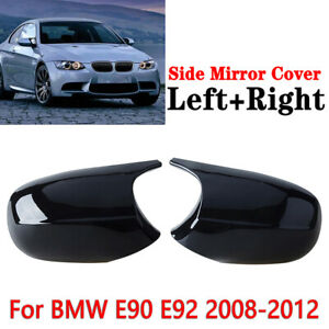Fit For BMW E90 LCI 328i 335i 2009-2011 Gloaay Black Textured Mirror Cover Cap
