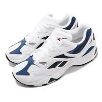 Reebok Aztrek 96 White Royal Fiery Orange Men Running Shoes Sneakers DV6756