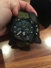 New Diesel DZ4391 Ironside Black Dial Olive Green Silicone Strap Men's Watch