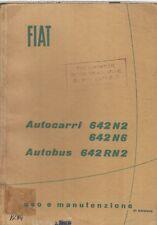 FIAT AUTOCARRI 642N2/N6 AUTOBUS 642RN2 ORIG 1956 MAINTENANCE MANUAL-ITALIAN TEXT