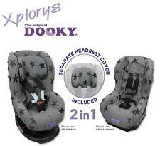 DOOKY 2in1 Sitzbezug / Schonbezug Maxi Cosi TOBI / Römer King PLUS etc. (STARS)