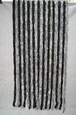 Flauschvorhang Silber/Anthr 90 x 200 Cm Vorhang Türvorhang Insektenschutz Garten
