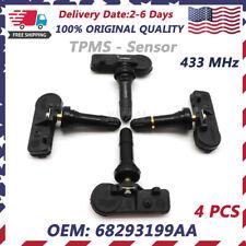 Set 4 68293199aa Oem Tpms For 2019 Dodge Ram 1500 Dt Tire Pressure Sensor New