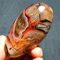 HOT89.3G Natural Polished Banded Agate Crystal Madagascar 590+