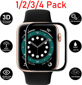 For Apple Watch SE/6/5/4/3/2/1 Full Cover Rugged Tempered Glass Screen Protector