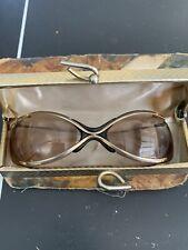 "Vintage Renauld Of France "" The Bikini "" Spectaculars Brown Sunglasses 1965 Case"