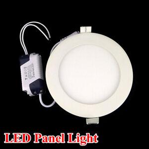 6W LED Panel Light Recessed Ceiling Downlight Lamp Round Cool White 110V 220V