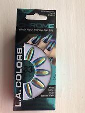 LA COLORS Press On Nails In 'Chrome' Mirror Finish.