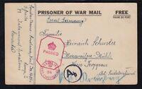 Canada 1943 WWII LETHBRIDGE PRISONER OF WAR Camp POW Postal Stationery Card