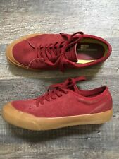 Converse Mens 8 Red Suede Gum Sole Sneaker Skate Shoes Lunarlon