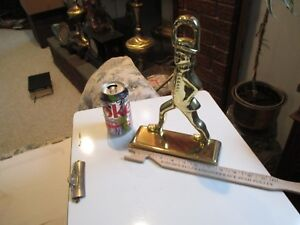Brass DOOR STOP SOLDIER Marching 11 inches tall